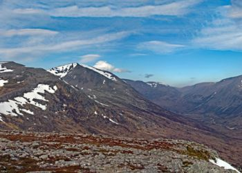 Cairn Toul, Lairig Ghru and Ben Macdui from The Devil's Point